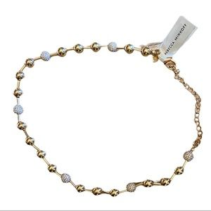 Rebecca Minkoff Gold & Crystal Choker Necklace NWT